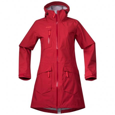 Куртка женская Bergans Hella Lady Coat | Red/Strawberry | Вид спереди