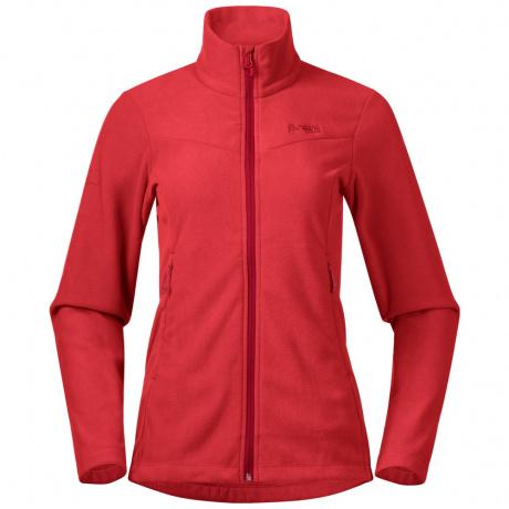 Куртка женская Bergans Finnsnes Fleece W Jacket | Fire Red | Вид спереди