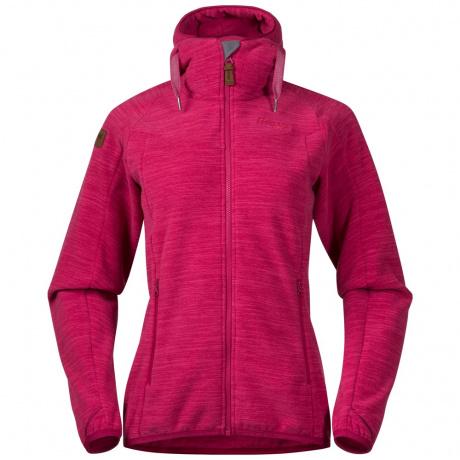 Куртка женская Bergans Hareid Fleece W Jacket | Bougainvillea Melange | Вид спереди