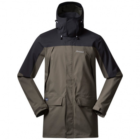 Куртка Bergans Breheimen 2L Jacket | Green Mud/Solid Dark Grey/Aluminium | Вид cпереди