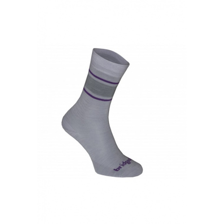 Носки женские Bridgedale Merino Sock/Liner W's | Lt.Grey/Purple | Вид 1