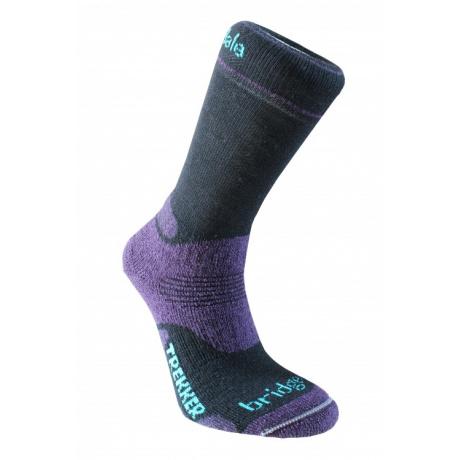Носки женские Bridgedale Trekker W's | Black/Purple | Вид 1