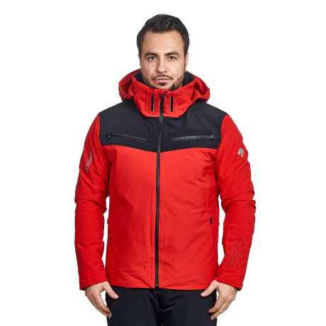 Куртка Descente SWISS SKI | Electric Red | Вид спереди