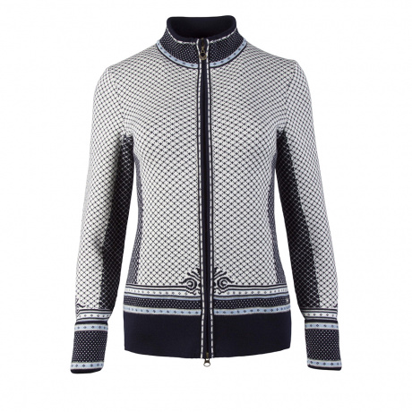 Куртка женская Dale of Norway Viktoria Feminine jacket | Navy/Ice Blue/Grey Mel/Off white | Вид 1