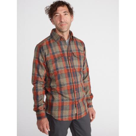 Рубашка мужская Exofficio M Stonefly Midwt Flannel LS | Rust | Вид 1