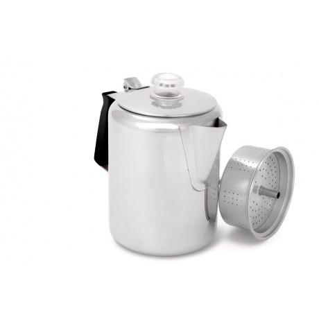Кофеварка GSI Glacier Stainless 9 Cup Perc W/Silicone | Вид 1