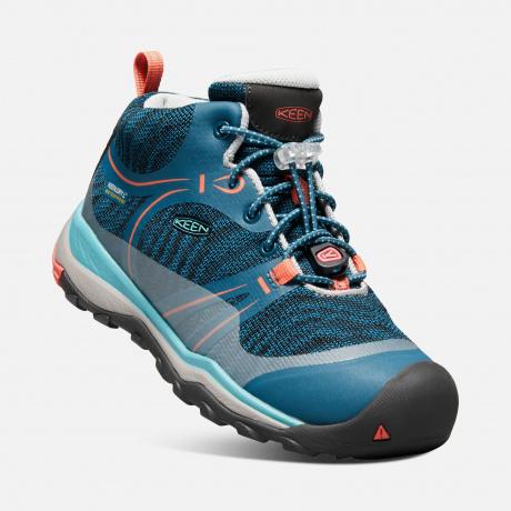 Подростковые ботинки KEEN Terradora Mid WP Y | Aqua Sea/Coral | Вид 1