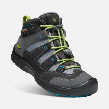 Ботинки подростковые KEEN Hikeport Mid WP Y | Magnet/Greenery | Вид 1