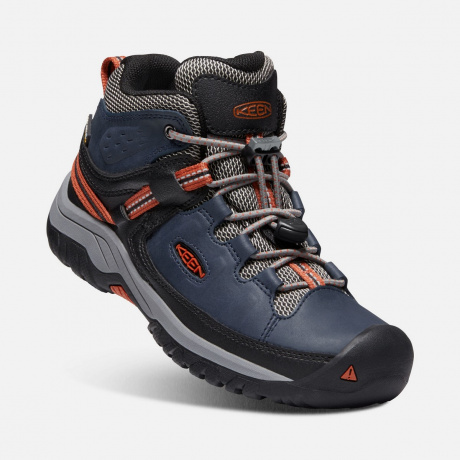 Ботинки детские KEEN Targhee Mid WP Y | Blue Night/Rooibos Tea | Вид 1