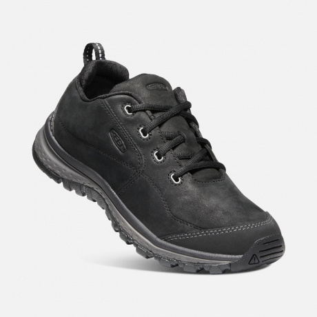 Полуботинки женские KEEN  Terradora Sneaker Leather W | Black/Raven | Вид 1