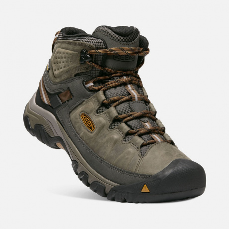 Ботинки KEEN Targhee III Mid WP M | Black Olive/Golden Brown | Вид 1