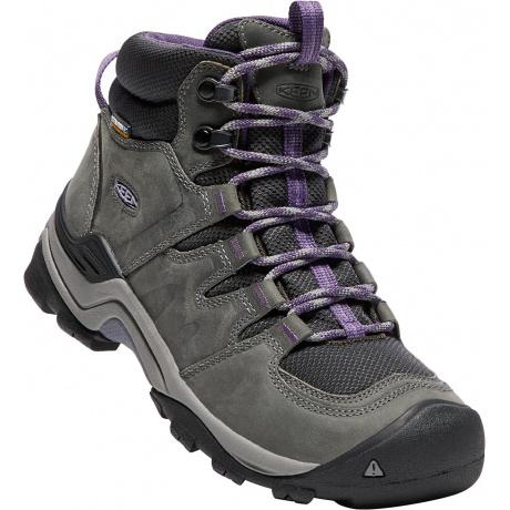 Ботинки женские KEEN Gypsum II Mid WP W | Earl Grey/Purple Plum | Вид 1