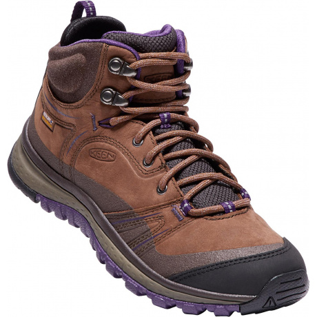 Ботинки женские KEEN Terradora Leather Mid WP W | Scotch/Mulch | Вид 1