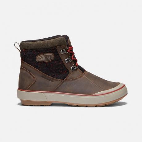 Ботинки женские KEEN Elsa II Ankle Wool WP W | Cascade Brown/Fried Brick | Вид справа