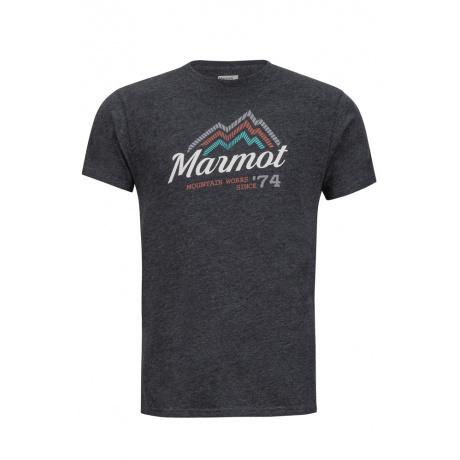 Футболка Marmot Beams Tee SS | Charcoal Heather | Вид 1