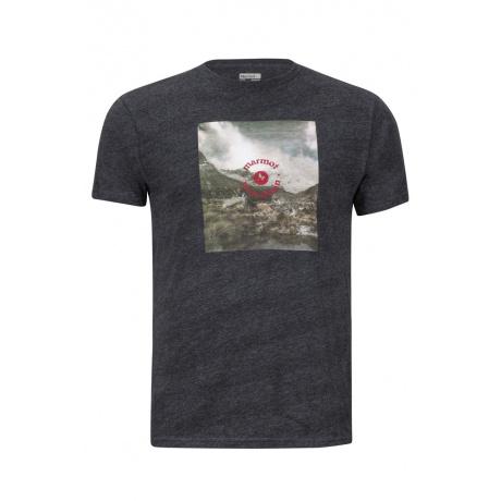 Футболка Marmot Trek Tee SS | Charcoal Heather | Вид 1