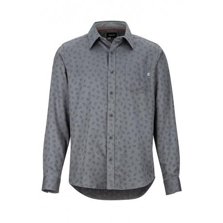 Рубашка Marmot Fairfax Midweight Flannel LS   Cinder/Marmot Jacquard   Вид спереди