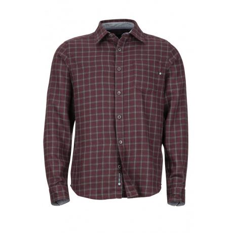 Рубашка Marmot Fairfax Midweight Flannel LS | Burgundy | Вид спереди