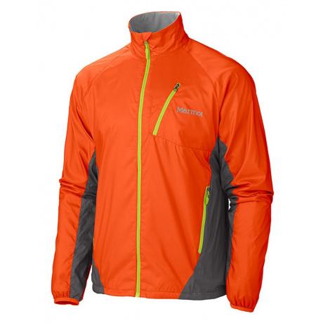 Ветровка Marmot Stride Jacket | Sunset Orange/Slate Grey | Вид 1