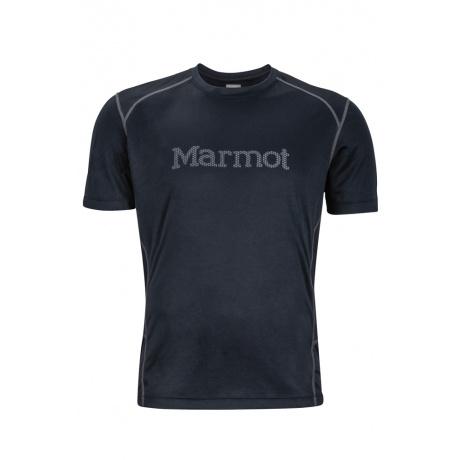 Футболка Marmot Windridge with Graphic SS | Black/Cinder | Вид 1