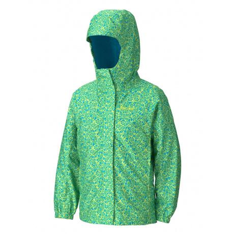 Куртка детская Marmot Girl's Summer Storm Jacket | Blue Lime Swirl | Вид 1