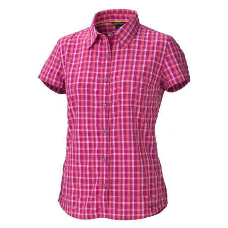 Рубашка женская Marmot Wm's Reese Plaid SS | Plum Rose | Вид 1