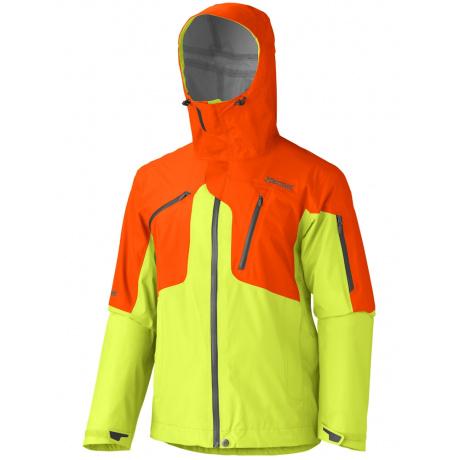 Куртка Marmot Big Mountain Jacket   Green Lime/Sunset Orange   Вид 1