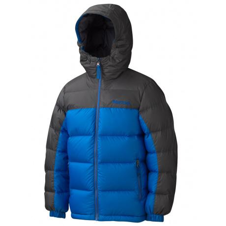 Куртка детская Marmot Boy's Guides Down Hoody   Peak Blue/Slate Grey   Вид 1