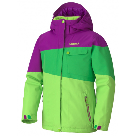 Куртка детская Marmot Girl'S Moonstruck Jacket | Green Envy/Leaf/Bright Berry | Вид 1