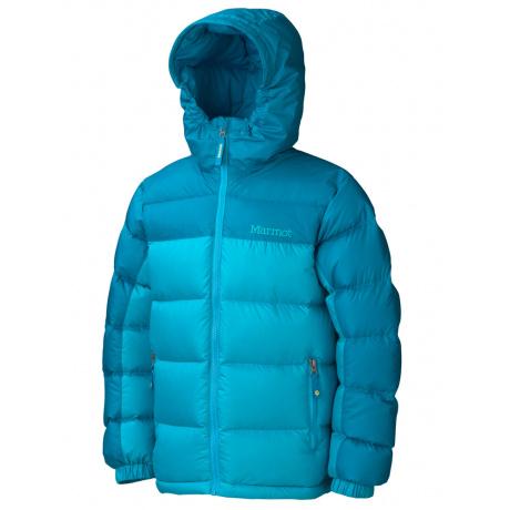 Куртка детская Marmot Girl'S Guides Down Hoody | Sea Breeze/Aqua Blue | Вид 1