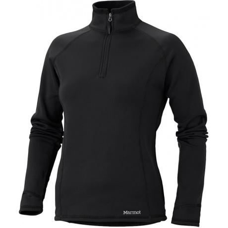 Пуловер женский Marmot Wm's Power Stretch Half Zip | Black | Вид 1