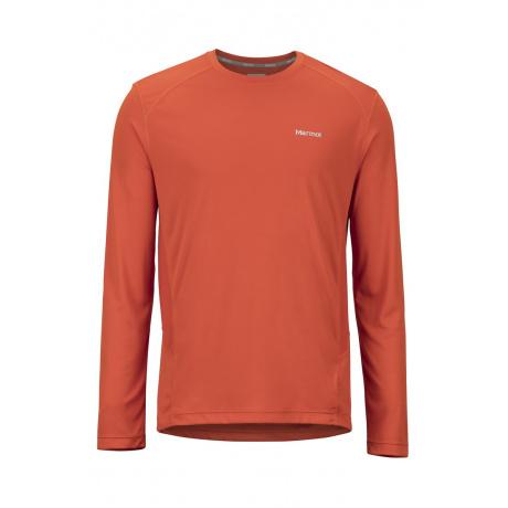 Футболка Marmot Windridge LS   Orange Haze   Вид спереди
