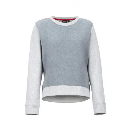 Толстовка женская Marmot Wm's CN Sherpa Sweatshirt | Grey Storm/Heather | Вид спереди