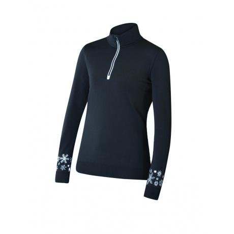 Пуловер женский Newland Marande T-NECK 1/2 ZIP LADY DH240  | Black/White | Вид спереди