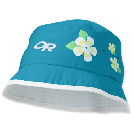 Панама детская Outdoor Research Girls' Solstice Bucket | Turquoise/White | Вид 1