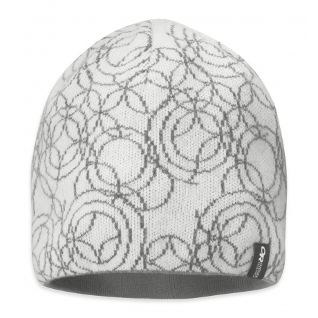 Шапка женская Outdoor Research Oracle Beanie   White/Pewter   Вид 1