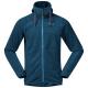 Куртка из флиса Bergans Hareid Fleece Jacket | Stone Blue Melange | Вид спереди