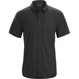 Рубашка мужская Arcteryx Riel shirt ss men's | Black/Tatsu | Вид 1