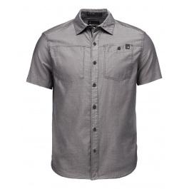 Рубашка мужская Black Diamond M SS SOLUTION SHIRT | Black/Ash | Вид 1
