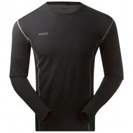 Термобелье мужское Bergans Akeleie Shirt | Black | Вид спереди