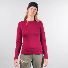 Термобелье женское Bergans Akeleie Lady Shirt | Beet Red/Raspberry | Вид спереди
