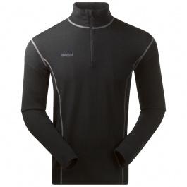 Термобелье мужское Bergans Akeleie Half Zip | Black | Вид спереди
