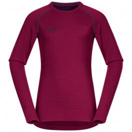 Термобелье детское Bergans Akeleie Youth Shirt | Beet Red/Raspberry | Вид спереди