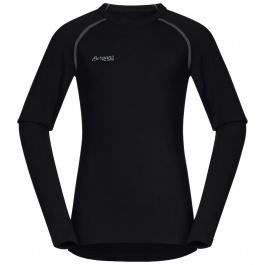 Термобелье детское Bergans Akeleie Youth Shirt | Black | Вид спереди