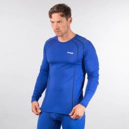 Термобелье мужское Bergans Fjellrapp Shirt   Dark Royal Blue/Navy   Вид 1