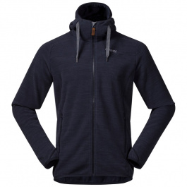 Куртка из флиса Bergans Hareid Fleece Jacket | Dark Navy Melange | Вид спереди