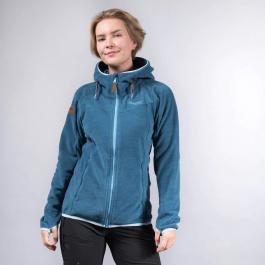 Куртка женская Bergans Hareid Fleece W Jacket | Stone Blue Melange | Вид 1