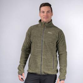 Куртка мужская Bergans Hareid Fleece Jacket NoHood | Seaweed Melange | Вид спереди
