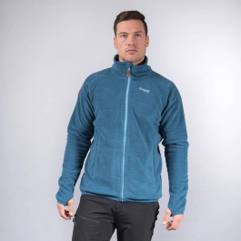 Куртка мужская Bergans Hareid Fleece Jacket NoHood | Stone Blue Melange | Вид спереди