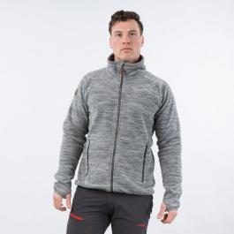 Куртка мужская Bergans Hareid Fleece Jacket NoHood | Aluminium Melange | Вид 1